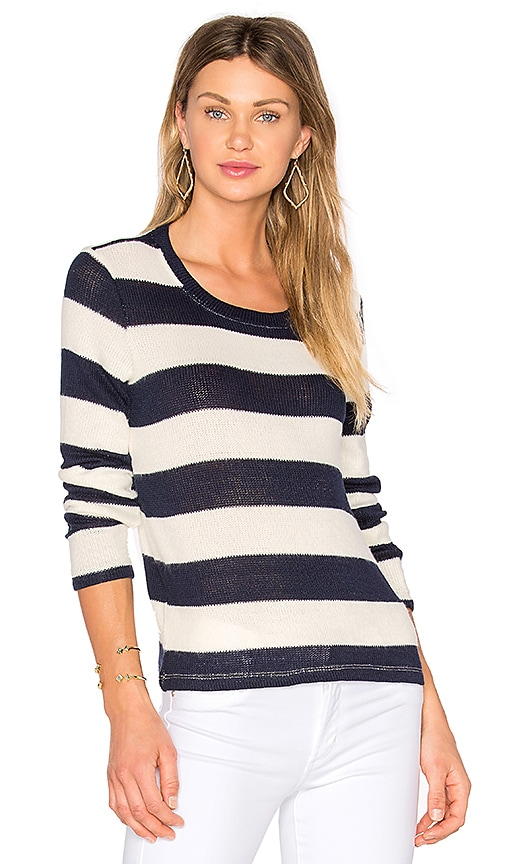 Splendid Cliffside Rugby Stripe Pullover in Blue