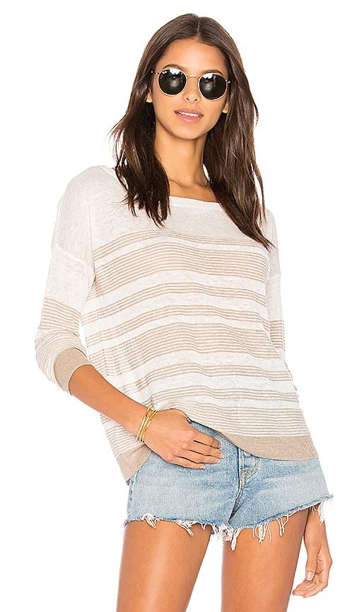 Splendid Nevis Stripe Sweater in White