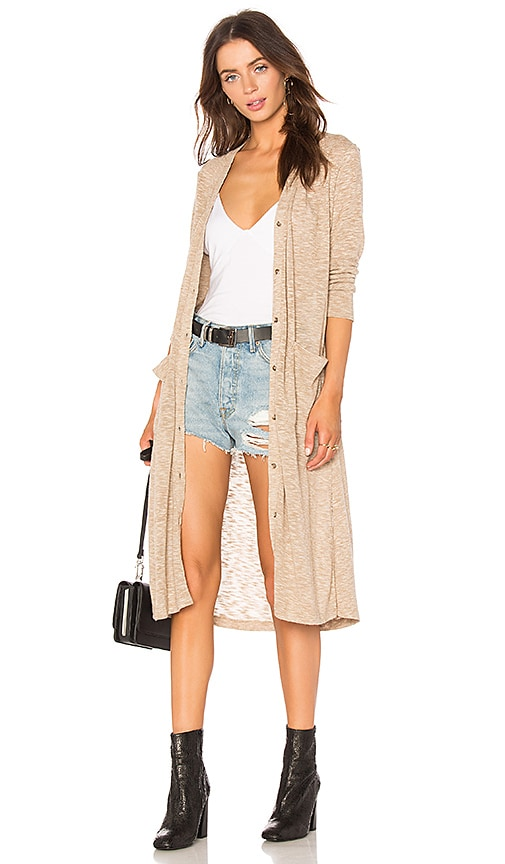 Splendid Ashbourne Knit Cardigan in Beige