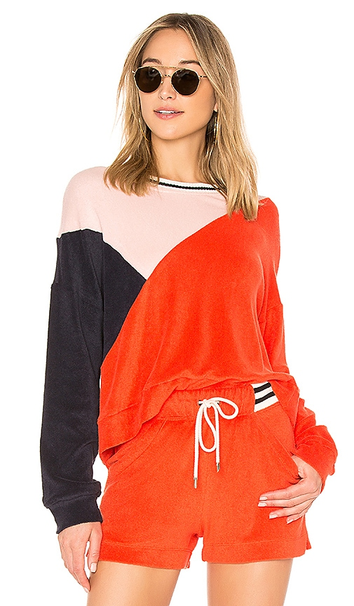 Splendid x MARGHERITA MISSONI Sportivo Sweatshirt in Red