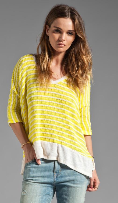 Panama Stripe V Neck Pullover