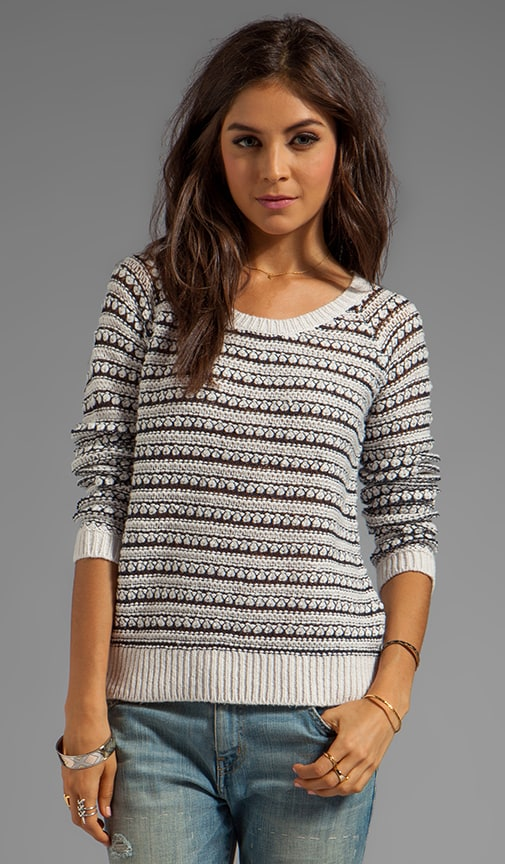 Hudson Stitch Stripe Pullover