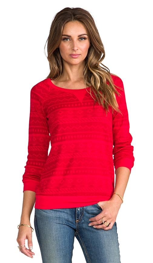 Splendid Fair Isle Sweatshirt in Vermillion | REVOLVE