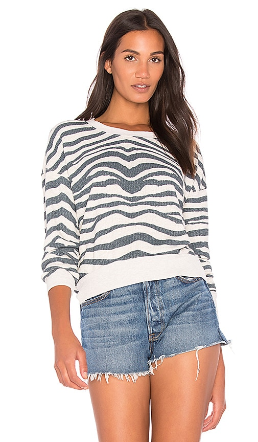 Splendid Zebra Sweatshirt in Gray