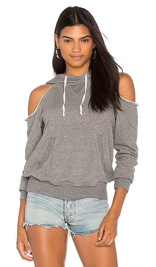 Splendid Cold Shoulder Sweatshirt in Gray