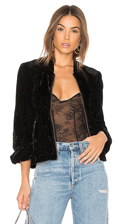 Splendid Velvet Jacket in Black
