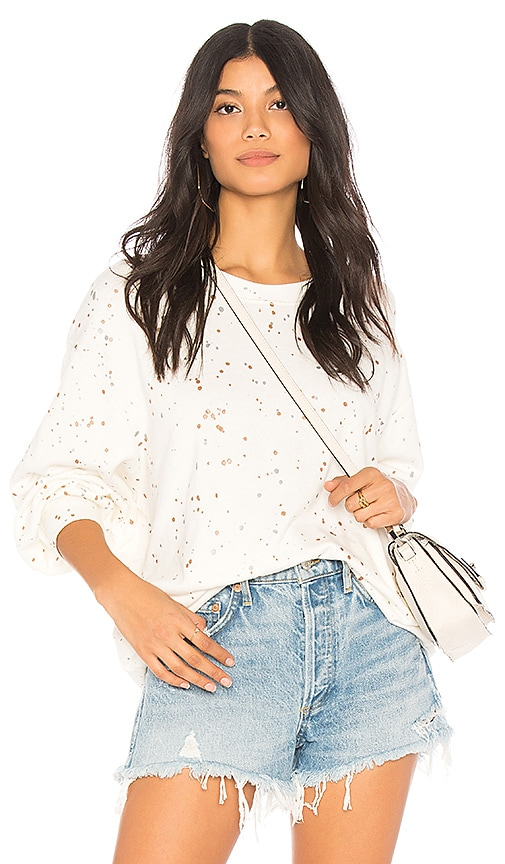 Splendid City Lights Sweatshirt in Ivory