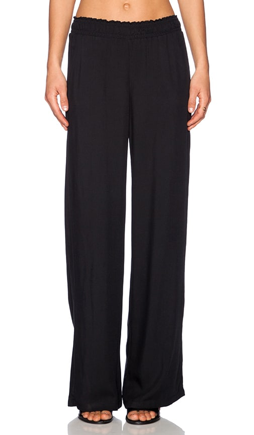 Splendid Rayon Twill Pant in Black