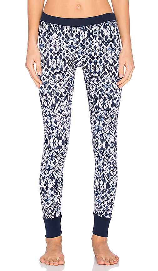 Splendid Ikat Print Legging in Navy