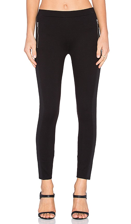 Splendid Ponte Mix Legging in Black