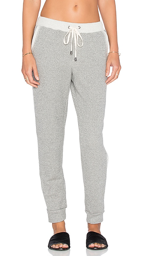Splendid Lace Jogger Pant in Heather Grey