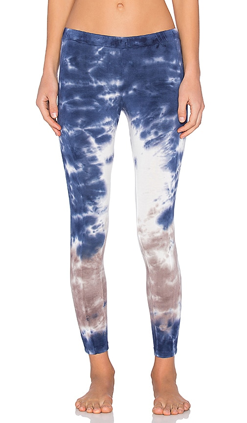 Splendid Rayon Jersey Legging in Navy & White & Clay