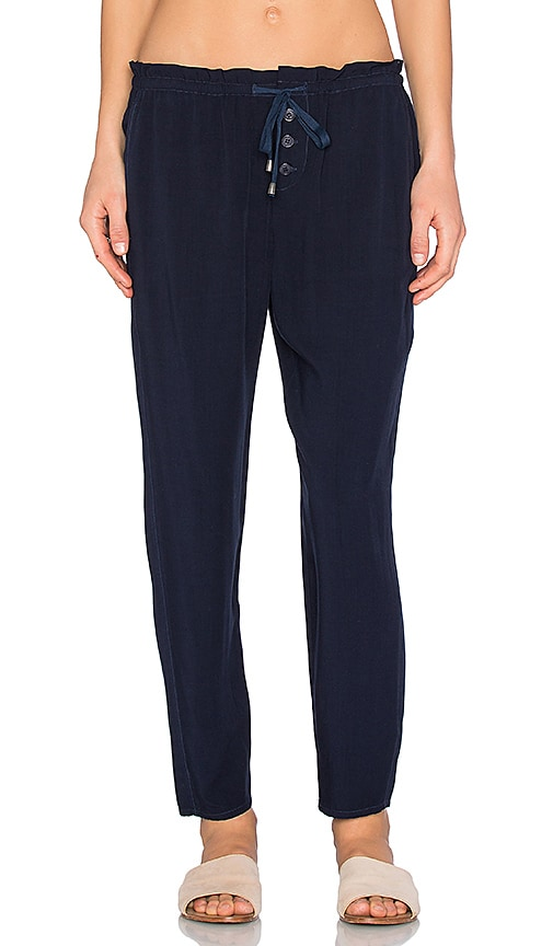 Splendid Lace Up Pant in Navy