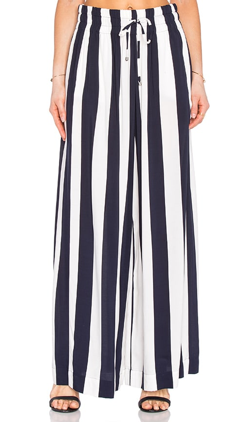 Splendid Capistan Rugby Stripe Pant in Navy & White