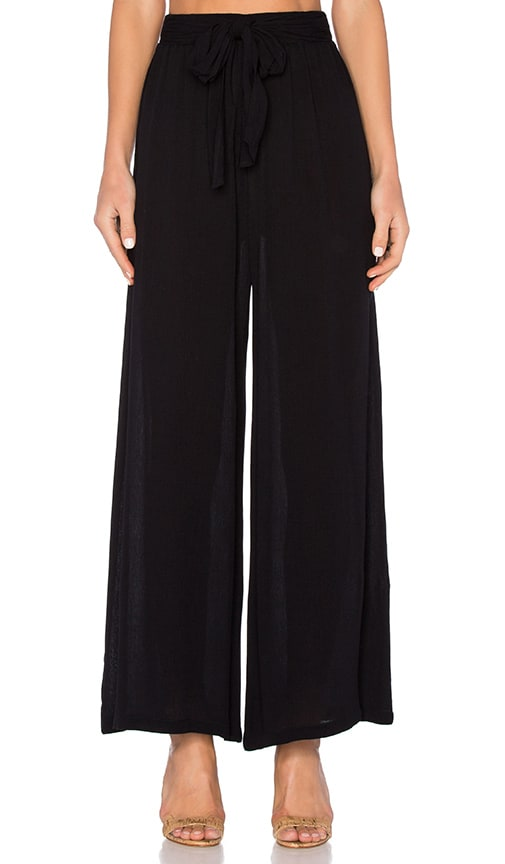 Splendid Crinkle Gauze Pant in Black