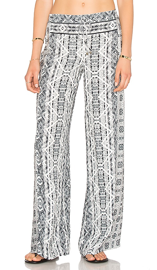 Splendid Taos Print Pant in Black & White