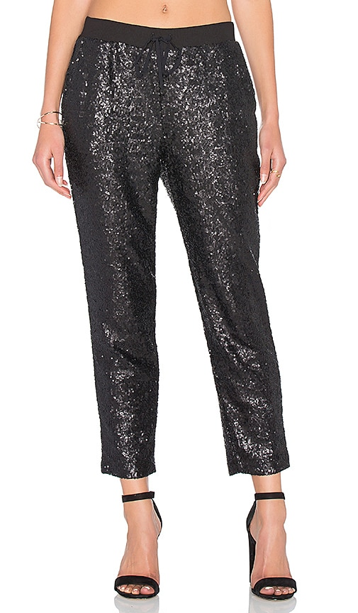 Splendid Sequin Embellished Sweatpant in Black