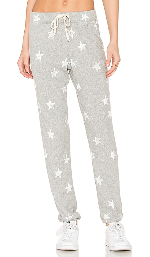 Splendid Ashbury Star Print Sweatpant in Gray