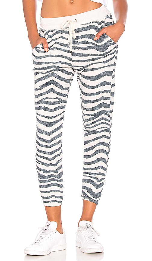 Splendid Zebra Sweatpant in Gray
