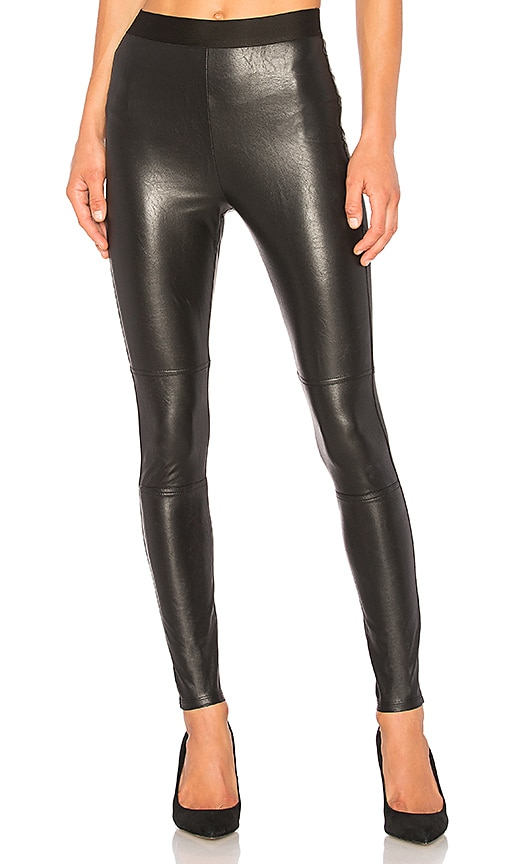 Splendid Faux Leather Legging in Black
