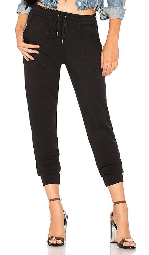 Splendid French Terry Jogger in Black