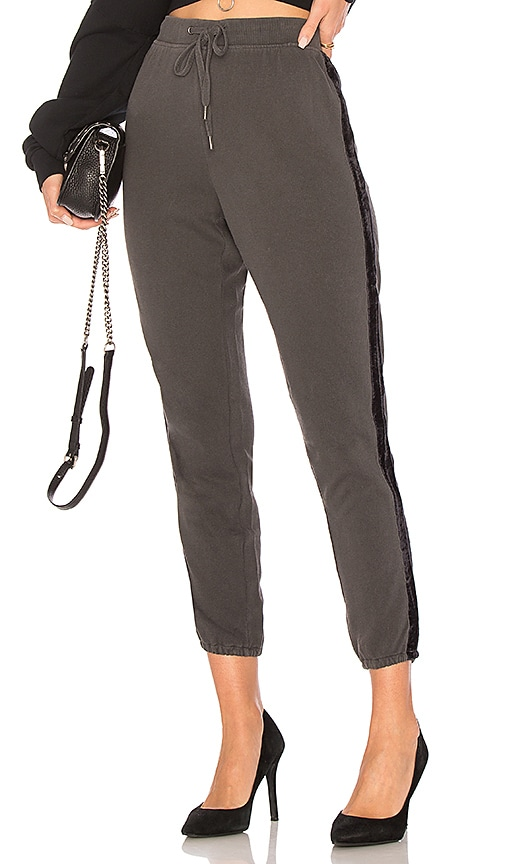 Splendid Velvet Pant in Charcoal