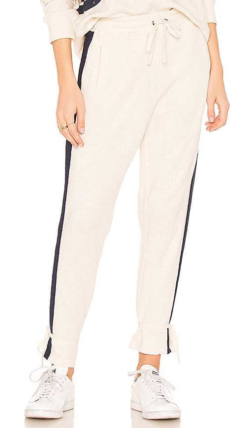 Splendid Pacifica Track Pant in Beige