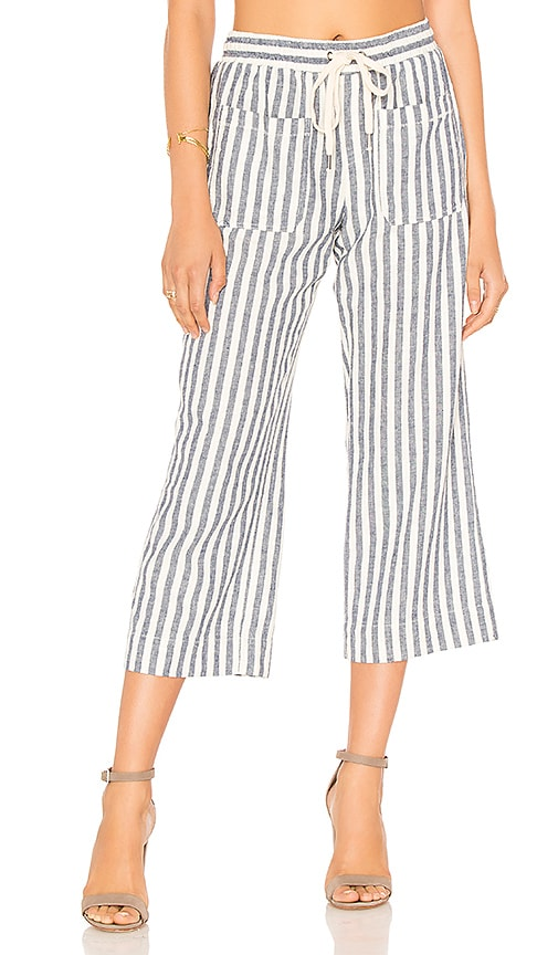 Splendid Linen Blend Stripe Pant in Blue