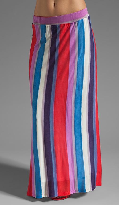 Watercolor Stripe Maxi Skirt