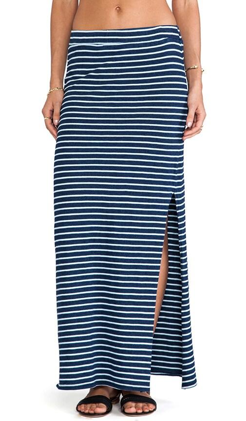 Indigo Dye Maxi Skirt