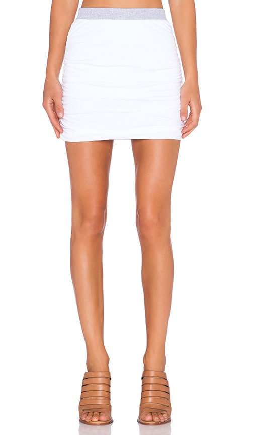 Rib Mix Mini Skirt
