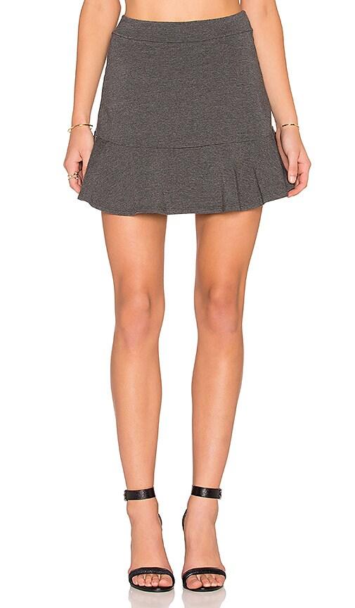 Splendid Mini Skirt in Charcoal