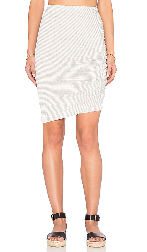 Splendid Winward Micro Stripe Skirt in Gray