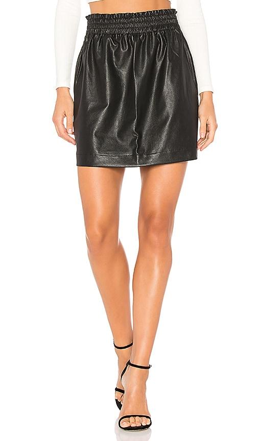 Splendid Faux Leather Skirt in Black