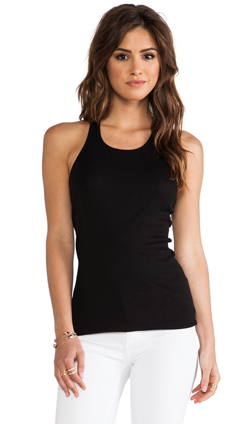 Splendid 2x1 Racer Back Tank in Black