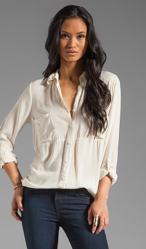 Shirting Button Up Top