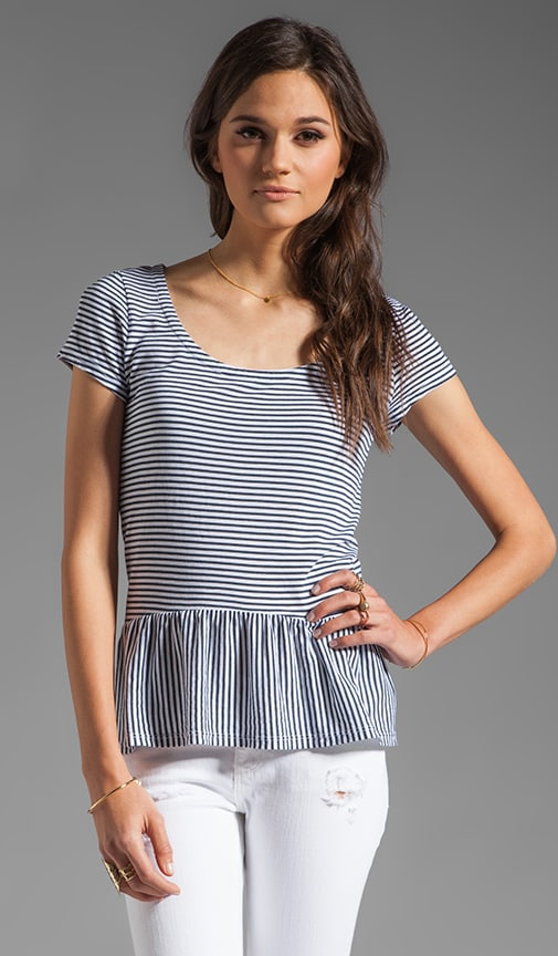 Naples Stripe Peplum Top