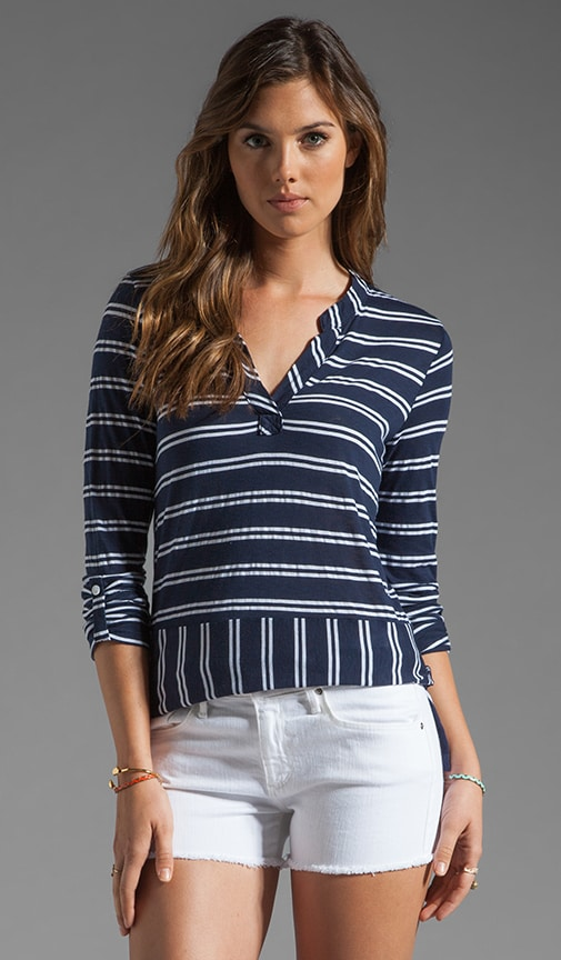 Double French Stripe Tee
