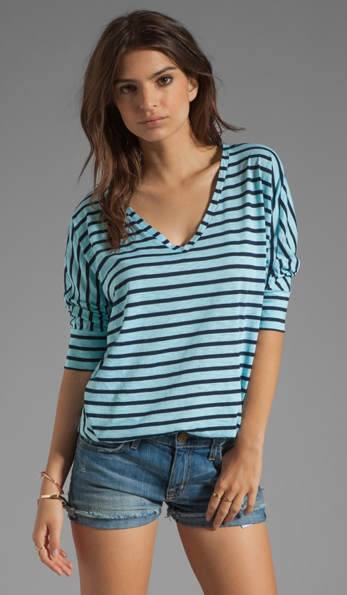 Miami Stripe V Neck
