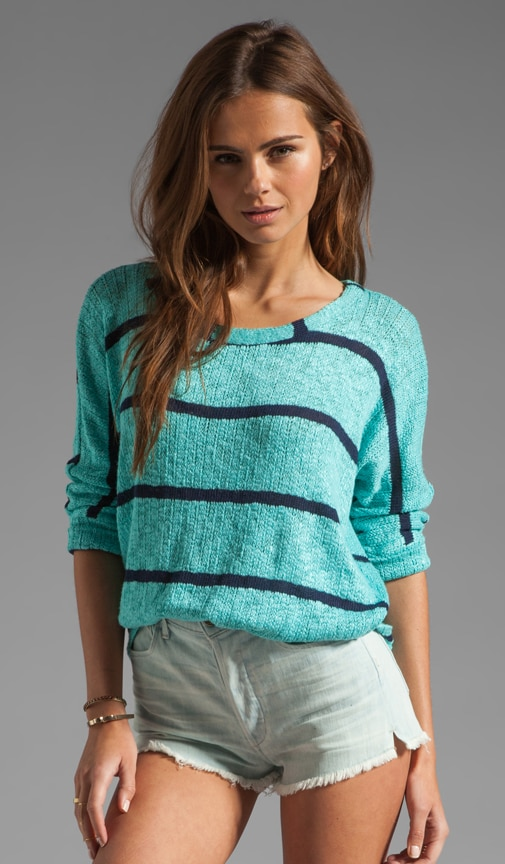 French Riveria Stripe Loose Knit