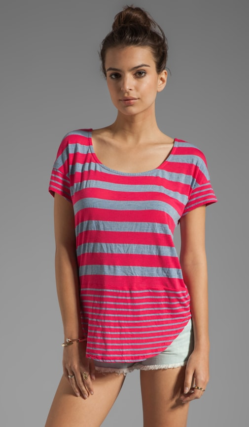 Marseille Chambray Stripe Tee