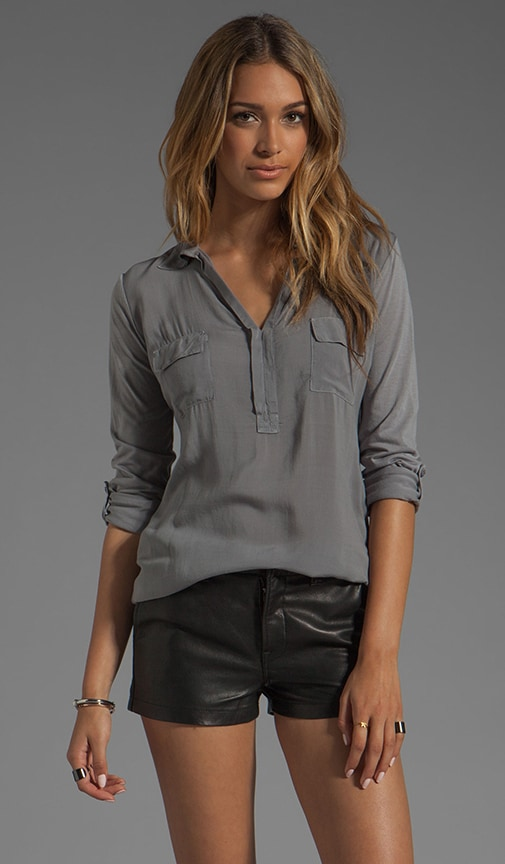 Shirting Collar Top