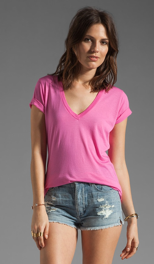 Very Light Jersey V Neck Tee