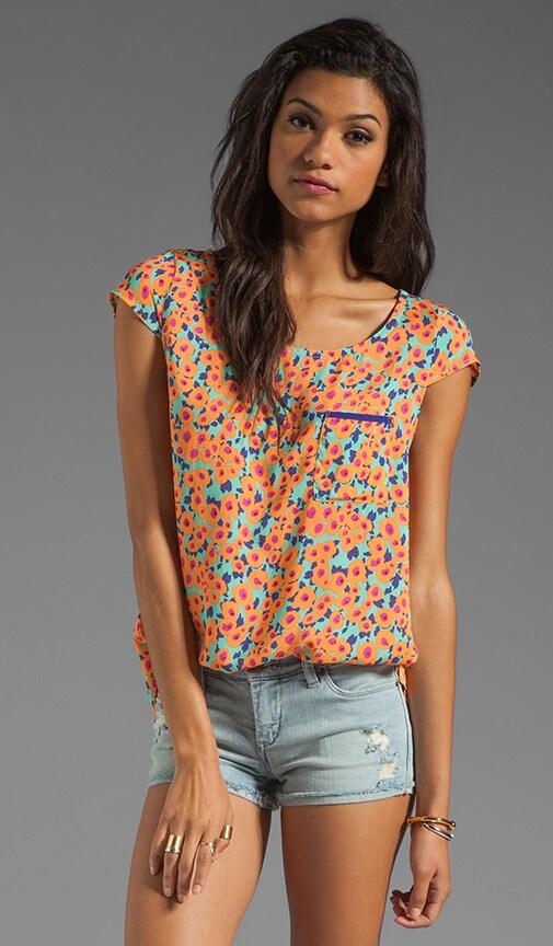Watercolor Floral Pocket Top