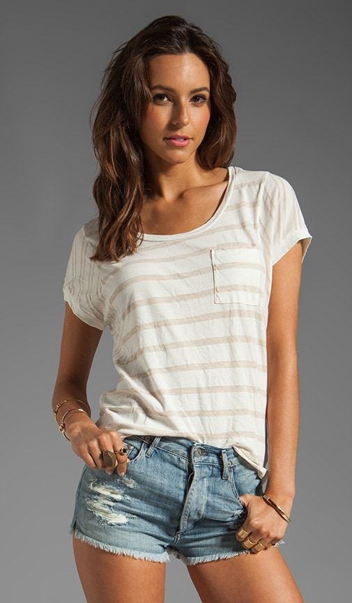 Sugarcane Stripe Pocket tee