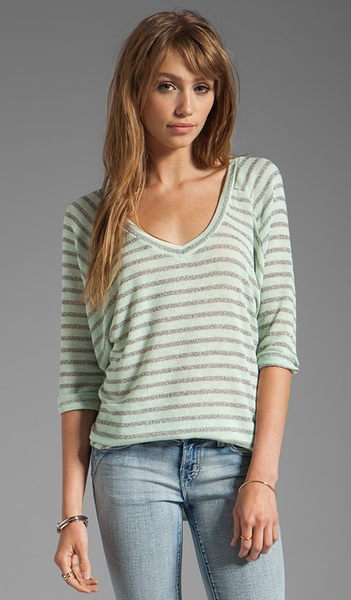 Disco Stripe Loose Knit Top