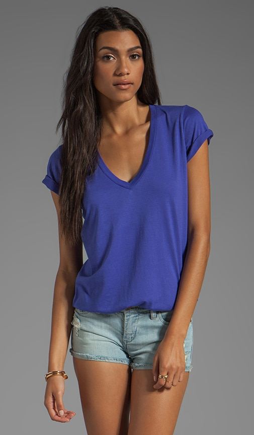 Very Light Jersey V Neck Top