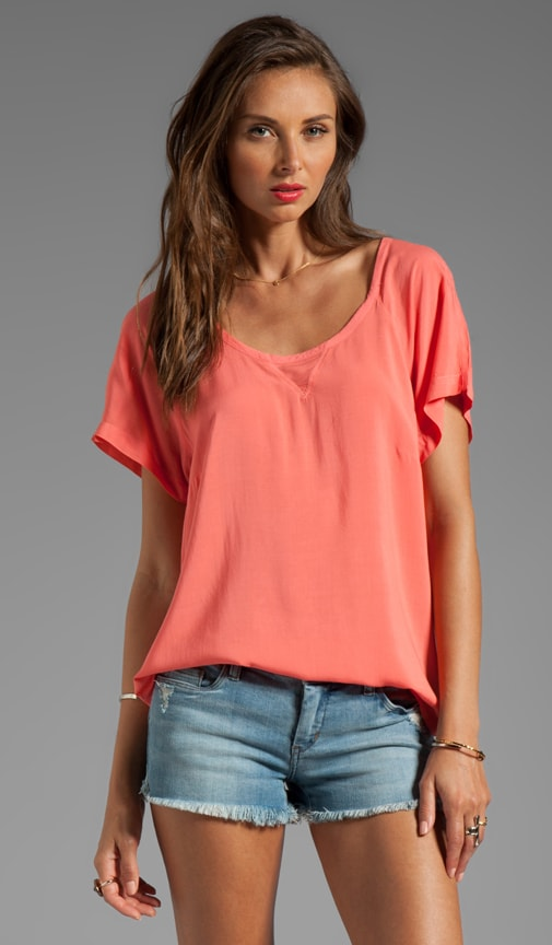 Shirting Short Sleeve Top