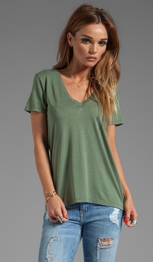 Light Jersey V-Neck Short Sleeve Tee