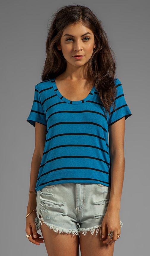 Brooklyn Striped Drapy Lux Short Sleeve
